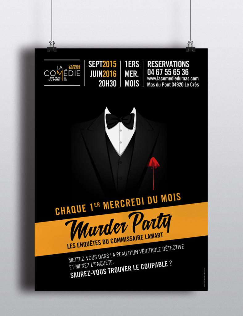 affiche murder party - créafeine