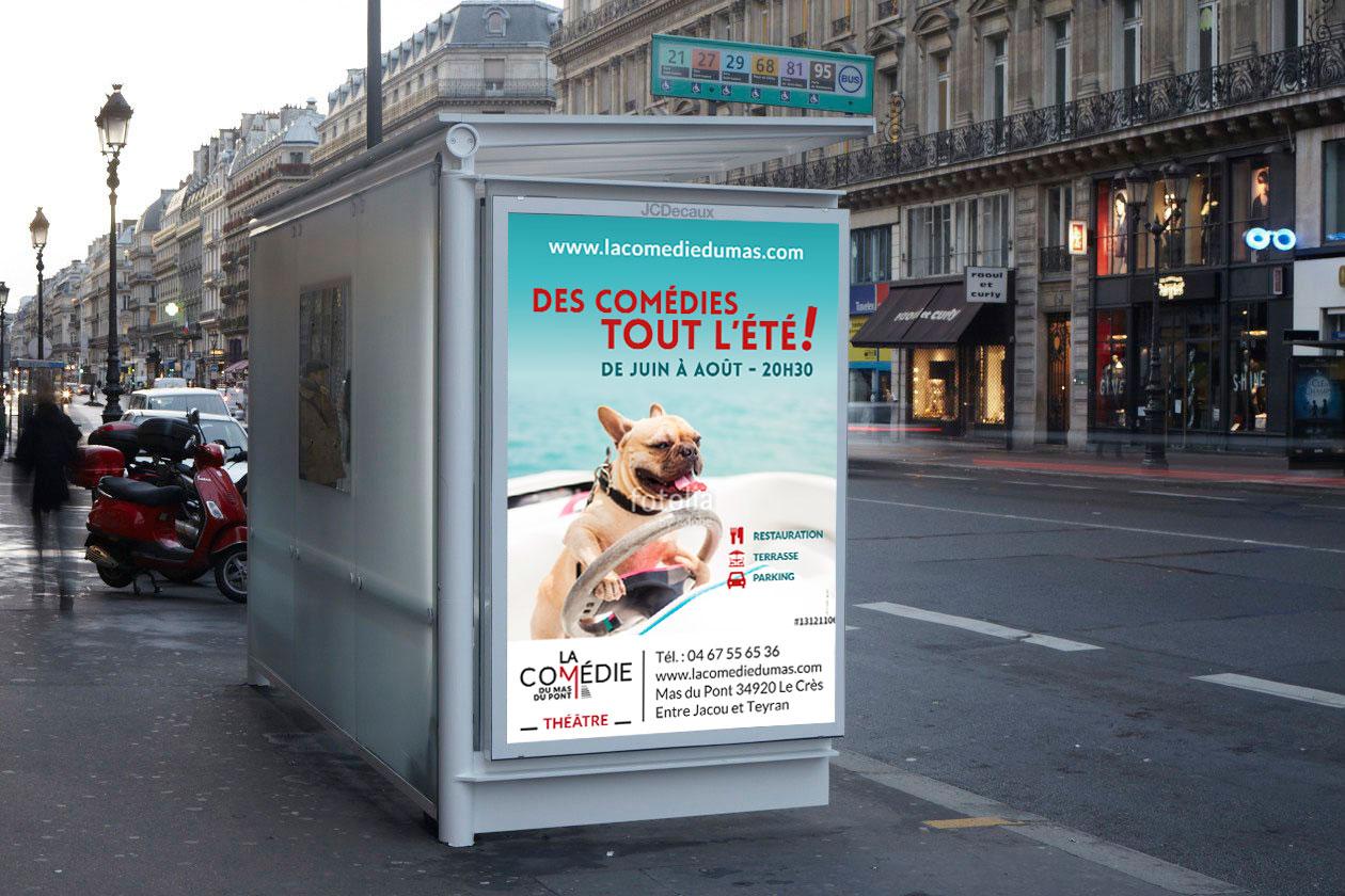 la Comédie du Mas | affiche abribus
